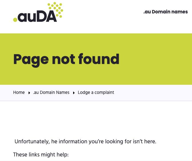 auda website down broken